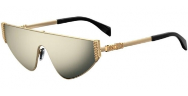 Sunglasses - Moschino - MOS022/S - J5G (UE)  GOLD // GREY IVORY MIRROR