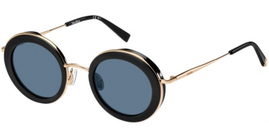 Sunglasses - MaxMara - MM EILEEN - 807 (KU) BLACK // BLUE GREY