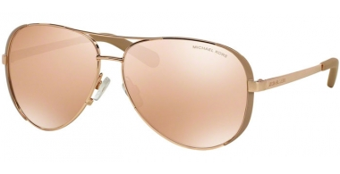 Sunglasses - Michael Kors - MK5004 CHELSEA - 1017R1 ROSE GOLD TAUPE // ROSE GOLD FLASH