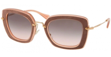 Gafas de Sol - Miu Miu - SMU 07OS - OAO1E2 ANTIQUE PINK BROWN // GREY GRADIENT