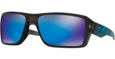 Sunglasses - Oakley - DOUBLE EDGE OO9380 - 9380-22 MATTE GREY SMOKE AERO // PRIZM SAPPHIRE