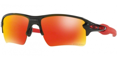 Gafas de Sol - Oakley - FLAK 2.0 XL OO9188 - 9188-80 POLISHED BLACK // PRIZM RUBY