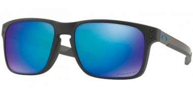 Sunglasses - Oakley - HOLBROOK MIX OO9384 - 9384-10 STEEL // PRIZM SAPPHIRE POLARIZED