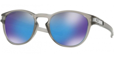 Sunglasses - Oakley - LATCH OO9265 - 9265-32 MATTE GREY INK // PRIZM SAPPHIRE POLARIZED