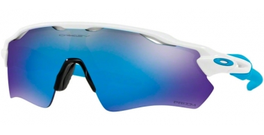 Sunglasses - Oakley - RADAR EV PATH OO9208 - 9208-57 POLISHED WHITE // PRIZM SAPPHIRE
