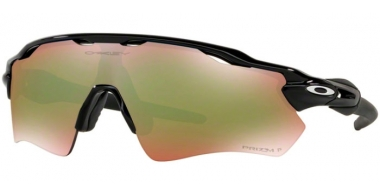 Sunglasses - Oakley - RADAR EV PATH OO9208 - 9208-58 POLISHED BLACK // PRIZM SHALLOW H2O POLARIZED