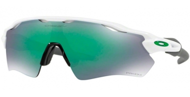 Sunglasses - Oakley - RADAR EV PATH OO9208 - 9208-71 POLISHED WHITE // PRIZM JADE