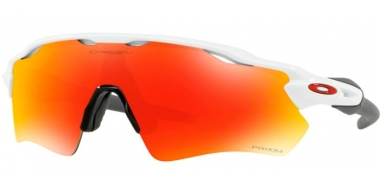 Sunglasses - Oakley - RADAR EV PATH OO9208 - 9208-72 POLISHED WHITE // PRIZM RUBY
