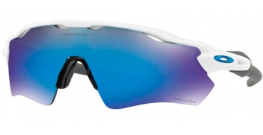Sunglasses - Oakley - RADAR EV PATH OO9208 - 9208-73 POLISHED WHITE // PRIZM SAPPHIRE