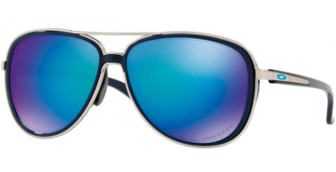 Sunglasses - Oakley - SPLIT TIME OO4129 - 4129-07 NAVY // PRIZM SAPPHIRE POLARIZED