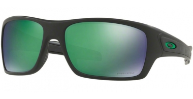 Sunglasses - Oakley - TURBINE OO9263 - 9263-45 MATTE BLACK // PRIZM JADE POLARIZED