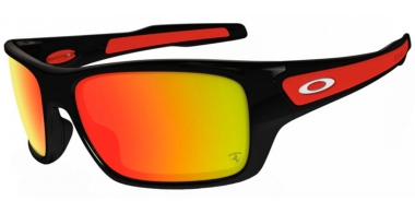 Gafas de Sol - Oakley - TURBINE OO9263 - 9263-39 POLISHED BLACK (FERRARI COLLECTION) // RUBY IRIDIUM
