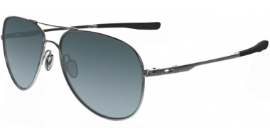 Gafas de Sol - Oakley - ELMONT M & L OO4119 - 4119-02 POLISHED CHROME // GREY GRADIENT POLARIZED