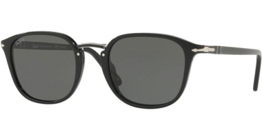 Gafas de Sol - Persol - PO3186S - 95/58 BLACK // GREEN POLARIZED