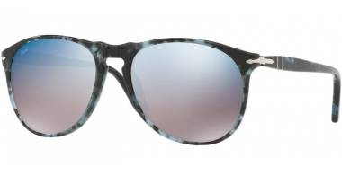 Gafas de Sol - Persol - PO9649S - 1062O4 SPOTTED BLUE DARK GREY // GREY MIRROR BLUE