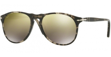 Gafas de Sol - Persol - PO9649S - 1063O3 SPOTTED GREY BLACK // LIGHT BROWN MIRROR GOLD