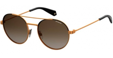 Sunglasses - Polaroid - PLD 6056/S - YYC (LA) BLACK GOLD BRONZE // BROWN GRADIENT POLARIZED