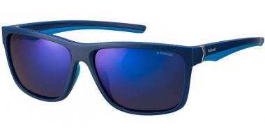 Sunglasses - Polaroid Sport - PLD 7014/S - ZX9 (5X) BLUE AZURE // GREY BLUE MIRROR POLARIZED