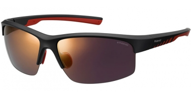 Sunglasses - Polaroid Sport - PLD 7018/S - OIT (OZ) BLACK RED // RED MIRROR POLARIZED