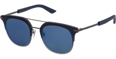 Sunglasses - Police - SPL584 HALO 4 - 627B DARK BLUE GUNMETAL // GREY MIRROR BLUE