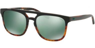 Sunglasses - POLO Ralph Lauren - PH4125 - 52606R TOP BLACK ON HAVANA JERRY // FLASH GREEN