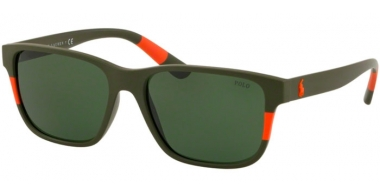 Sunglasses - POLO Ralph Lauren - PH4137 - 521671 MATTE OLIVE ORANGE // VINTAGE GREEN