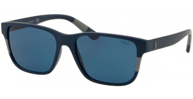 Sunglasses - POLO Ralph Lauren - PH4137 - 559080 MATTE BLUE GREY // BLUE