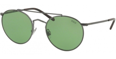 Sunglasses - POLO Ralph Lauren - PH3114 - 915771 SEMISHINY DARK GUNMETAL // GREEN