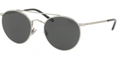 Sunglasses - POLO Ralph Lauren - PH3114 - 932687 SEMISHINY BRUSHED SILVER // GREY
