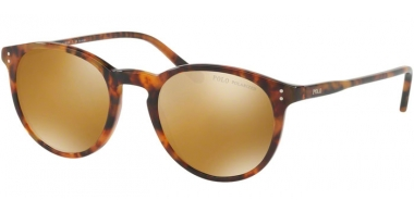 Sunglasses - POLO Ralph Lauren - PH4110 - 50172O SHINY JERRY TORTOISE // DARK BROWN MIRROR GOLD POLARIZED