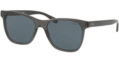 Sunglasses - POLO Ralph Lauren - PH4128 - 553687 DARK TRANSPARENT GREY // GREY