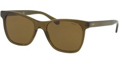 Sunglasses - POLO Ralph Lauren - PH4128 - 556173 TRANSPARENT OLIVE // BROWN
