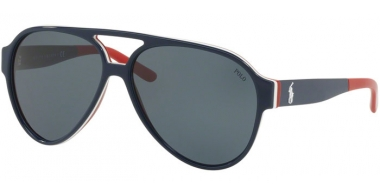 Sunglasses - POLO Ralph Lauren - PH4130 - 566787 BLUE WHITE RED // GREY