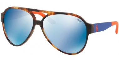 Sunglasses - POLO Ralph Lauren - PH4130 - 566955 VINTAGE NEW JERRY TORTOISE // DARK BLUE MIRROR BLUE