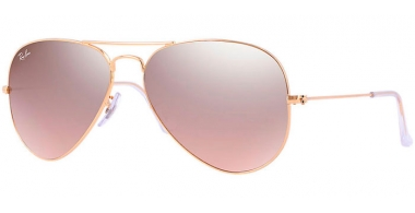 Gafas de Sol - Ray-Ban® - Ray-Ban® RB3025 AVIATOR LARGE METAL - 001/3E GOLD // CRYSTAL BROWN PINK SILVER MIRROR