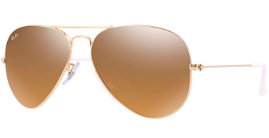 Gafas de Sol - Ray-Ban® - Ray-Ban® RB3025 AVIATOR LARGE METAL - 001/3K GOLD // CRYSTAL BROWN MIRROR SILVER GRADIENT