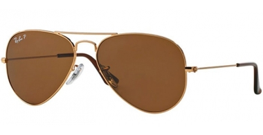 Gafas de Sol - Ray-Ban® - Ray-Ban® RB3025 AVIATOR LARGE METAL - 001/57  GOLD // CRYSTAL BROWN POLARIZED