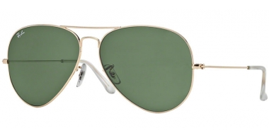 Gafas de Sol - Ray-Ban® - Ray-Ban® RB3025 AVIATOR LARGE METAL - 001 GOLD // CRYSTAL GREEN