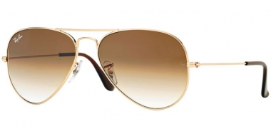 Gafas de Sol - Ray-Ban® - Ray-Ban® RB3025 AVIATOR LARGE METAL - 001/51 GOLD // CRYSTAL BROWN GRADIENT