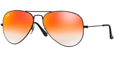 Gafas de Sol - Ray-Ban® - Ray-Ban® RB3025 AVIATOR LARGE METAL - 002/4W SHINY BLACK // MIRROR RED GRADIENT