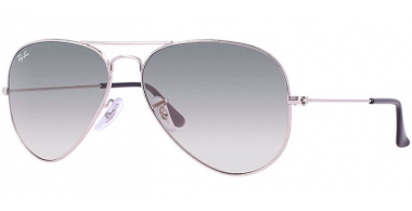 Gafas de Sol - Ray-Ban® - Ray-Ban® RB3025 AVIATOR LARGE METAL - 003/32 SILVER // CRYSTAL GREY GRADIENT