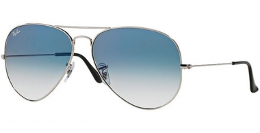 Gafas de Sol - Ray-Ban® - Ray-Ban® RB3025 AVIATOR LARGE METAL - 003/3F SILVER // CRYSTAL LIGHT BLUE GRADIENT