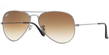 Gafas de Sol - Ray-Ban® - Ray-Ban® RB3025 AVIATOR LARGE METAL - 004/51 GUNMETAL // CRYSTAL BROWN GRADIENT