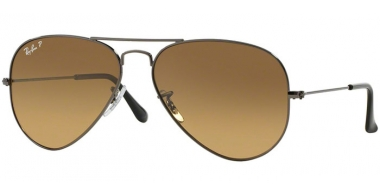 Gafas de Sol - Ray-Ban® - Ray-Ban® RB3025 AVIATOR LARGE METAL - 004/M2 SHINY GUNMETAL // CRYSTAL BROWN GRADIENT POLARIZED