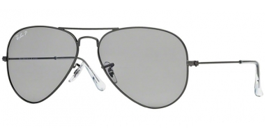 Gafas de Sol - Ray-Ban® - Ray-Ban® RB3025 AVIATOR LARGE METAL - 029/P2  MATTE GUNMETAL // GREY POLARIZED