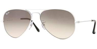 Gafas de Sol - Ray-Ban® - Ray-Ban® RB3025 AVIATOR LARGE METAL - 032/32 WHITE METAL // CRYSTAL GREY GRADIENT