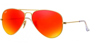Gafas de Sol - Ray-Ban® - Ray-Ban® RB3025 AVIATOR LARGE METAL - 112/69 MATTE GOLD // BROWN MIRROR ORANGE