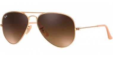 Gafas de Sol - Ray-Ban® - Ray-Ban® RB3025 AVIATOR LARGE METAL - 112/85 MATTE GOLD // BROWN GRADIENT