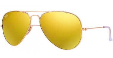 Gafas de Sol - Ray-Ban® - Ray-Ban® RB3025 AVIATOR LARGE METAL - 112/93 MATTE GOLD // BROWN MIRROR GOLD