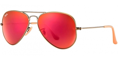 Gafas de Sol - Ray-Ban® - Ray-Ban® RB3025 AVIATOR LARGE METAL - 167/2K DEMIGLOS BRUSHED BRONZE // RED MIRROR